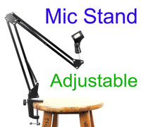 Adjustable Shock mount Metal Suspension Microphone Stand Holder Scissor Arm for Handheld Microphone Mic Free shipping