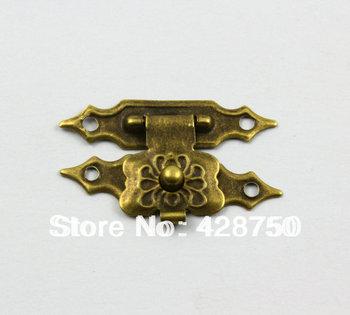 Antique Brass Jewelry Box Hasp Latch Lock 30x18mm with Screws