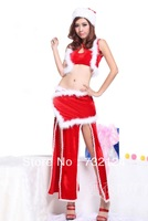 Free Shipping Adult Sexy Halloween Cosplay Costume For Women, christmast beauty  costume with red
