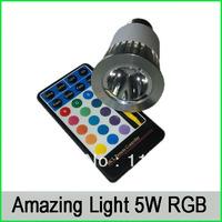 10X remote control led rgb spotlight 10W E27 spot light 12V 85-265VAC led bulb light spot light pub decorative lamp