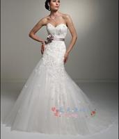 Fashion high waist organza wedding dress 2013 short trailing low-high princess wedding dress