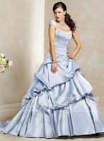 Train wedding dress hunsha puff skirt slim waist wedding dress wedding dress jh1168