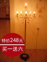 Crystal floor lamp living room lights bedroom bedside lamp fashion lamp entranceway aisle lights lamps
