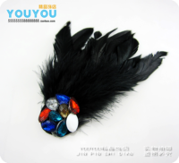 DIY Fashion feather Women noble evening party badge handmade brooch corsage free shipping