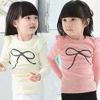 2014 spring and autumn bow girls clothing child long-sleeve T-shirt basic shirt  tx-2196 K2894