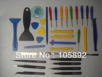 Free  34pcs/1set Opening Tools Repair Tool Phone set Kit  +7pcs Tweezers Nipper kit for iPhone iPad HTC Cell Phone Tablet PC