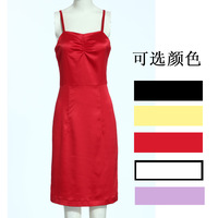 2013 summer casual basic shirt spaghetti strap top spaghetti strap medium skirt beach dress short skirt women skirt