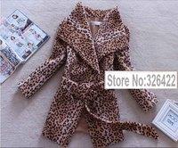 Female Overcoat Winter Coat Jacket Women Outerwear Genuine Horse Fur Leopard Print Thick Parka Casaco Casacos Femininos 2014