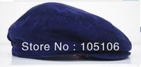 Blue Boy's Grid Berets Children's Grid Caps For Kids Duckbill Cap Hats Baby Cap Fashion Headgear Hat