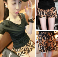 Free Gift 9255 star fashion cotton leopard print paragraph shorts