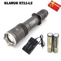 KLARUS XT11 Dual Button Tail Switch Cree L2 LED Max 820 Lumens Flashlight Hunting Military Flashlight Detachable head for Filter