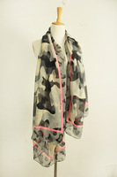 Neon fashion Camouflage autumn and winter scarf fluid ultralarge sunscreen cape silk scarf summer scarf