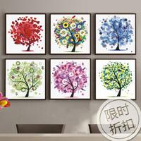 Diy diamond painting happy tree pachira diamond rhinestone pasted painting decorative painting diamond painting