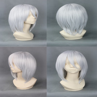 free shipping 2013 35cm women silver gray short hair wigs  anime  wig  repair face Korean wigs