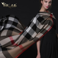 Florid fashion and romantic autumn winter oversized plaid wool scarf cashmere scarf plaid cape thermal female