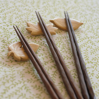 Log chopsticks wooden spoon 5 double