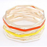Wholesale epoxy six picecs delicate thin Bracelet