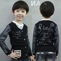 2013 spring and autumn V-neck boys clothing baby child long-sleeve cardigan wt-1176