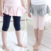 2013 summer girls clothing baby child skirt legging knee length trousers kz-1607