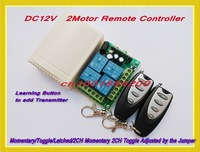 DC12V Motor Forwards Reverse Remote Controller System + Transmitter Learning Code Receiver M4/ T4 / L4 /2CH M4 2CH T4 Adjustable