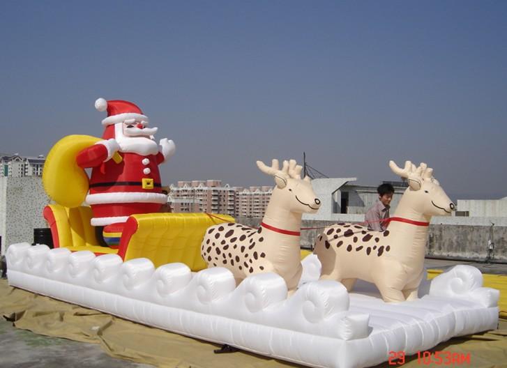 Décoration de noël gonflable santa claus géant en plein air