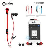 Connectland 3.5mm i9500 i8262d n7100 i9082 earphones remote control earphones headset
