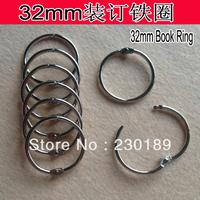 10 X DIY 32mm Book Hoop Binding Rings Binder Hoops Loose Leaf Ring Scrapbook Album Freeshipping