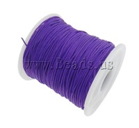 Free shipping!!!Nylon Cord,Cute, purple, 1mm, Length:Approx 100 Yard, Sold By PC