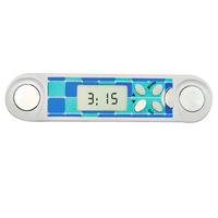 Mini type electronic digital body fat monitor with clock