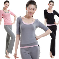 Yoga clothes spring and summer plus size modal yoga clothing three pieces set