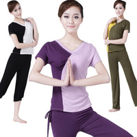 Jinnah 2013 Brahma song spring and summer yoga clothes set plus size modal yoga clothing