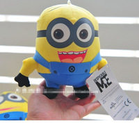 Available!1pcs/lot Despicable ME Minion Plush Toy 10 inch 3D eye Jorge/Stewart/Dave baby funny toys for Kids,fast free shipping