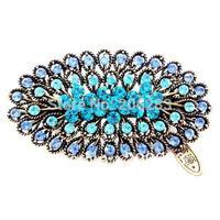 Bohemia Vintage Retro style crystal women Barrettes Flower hairpin B1392