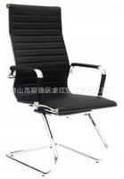 Fashion new white soft green leather chair 906D negotiation Foshan office chair office chair bow -frame port to port by sea