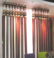 Classic quality jacquard curtain multicolor stripe series