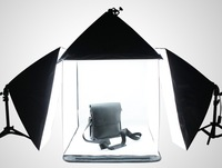 60 cm Portable square Mini Light Tent Kit + 4 Pcs Color Background Studio Light Tent+3PCS 50*70cm Softbox+2pcs  Light Stand