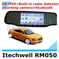 2013 New Arrival! 170 degree car Rearview Mirror 5 Inch HD GPS Navigator+ Bluetooth talk+Parking camera+Parking sensor+AV+HD DVR