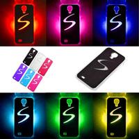 Stylish Calling Sense LED Flash Light Case For Samsung Galaxy S4 IV i9500 Free Shipping