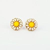 Free shipping Hotsale gem flower 2013 fashion stud earring for women [Min order is $10]