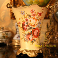 Home decoration aesthetic classic rose ceramic vase flower wedding gifts