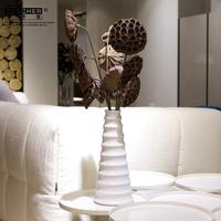 Bucherer fashion ceramic vase modern home decoration white vase a638