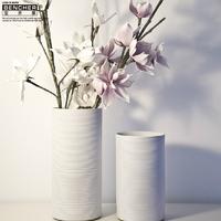 Bucherer white vase modern fashion ceramic vases countertop vase home decorations a697