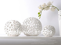 free DHL shipping 3pcs/lot engraved ball vase of exquisite workmanship, modern and beautiful