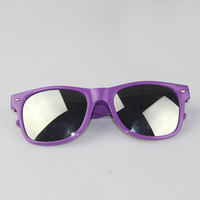 New Arrival!!! Classic Unique Brand Unisex PURPLE Wayfarer Sunglasses SILVER MIRROR LENSES+FREE SHIPPING