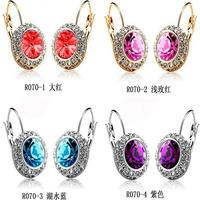 Fashion Shiny Full Austrian rhinestone Crystal stud Earring LM-E175 Small jewelry wholesale
