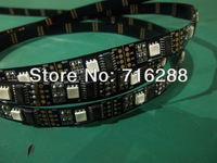 16FT 5050 SMD WS2801 2801 Addressable 160 LED Flex Black PCB Strip Light DC5V
