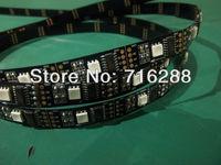 16FT 5050 SMD WS2801 2801 Addressable 160 LED Flex Black PCB Strip Light DC5V