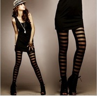 Free Gift 899 2013 fashion sexy fashion legging stripe patchwork skinny night club legging pants