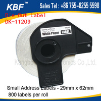 thermal DK label dk11209 white barcode label for QL-570