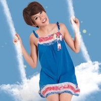 Sleepwear lounge 2013 women's cute spaghetti strap nightgown